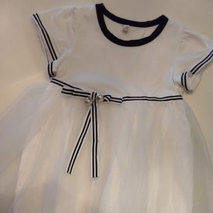 Other - Baby White and Navy Tulle dress, 18-24 Months